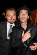 Leonardo DiCaprio and Adrien Brody pose backstage during The Leonardo DiCaprio Foundation 3rd Annual Saint-Tropez Gala at Domaine Bertaud Belieu on July 20, 2016 in Saint-Tropez, France. © Kristy Sparow